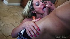 sydney sucks cock in the kitchen @ horny grannies love to fuck #08