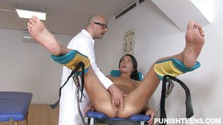 gynecologist punished slutty nataly for her lie