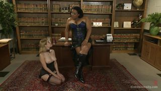 naughty blonde learns to obey