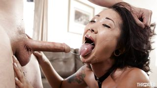 she got her throat pounded hard