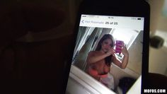 she takes some nude selfies in the bathroom