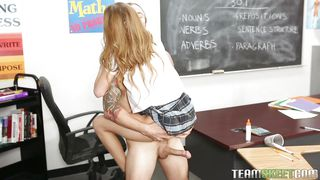 Cutie Sucks Off Her Teacher In The Classroom