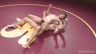 Guys In A Wrestle To Win A Fuck!