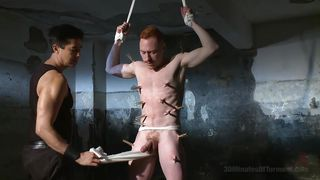 Ginger Gay Spanked And Pleased