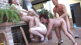 Mature Nl-Three Mature Ladies Enjoying A Young Cock! PornZek.Com