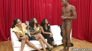 Cfnm Show-Three Whores On The Couch Love To Watch Naked Guys PornZek.Com