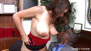 Brazzers-Sexy Latina Milf Sucking Black Cock PornZek.Com
