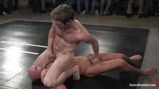 Nude male domination wrestling video