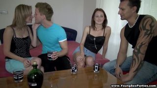 Blonde Mika And Brunette Angella Ready For 4-way Action! PornZek.Com
