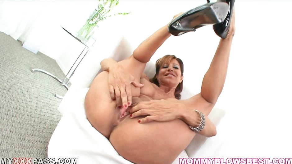 Sexy brunette busty moms