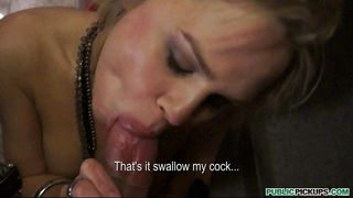 Blonde Beauty Devours A Hard Cock