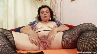 Mom Loves Mom-Mature Brunette Masturbates In The Bedroom PornZek.Com