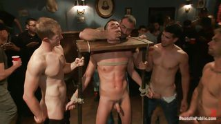 Guy Bound And Fucked By Wild Gays
