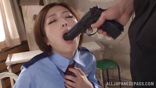 All Japanese Pass-Horny Japanese Officer Sucking The Gun PornZek.Com