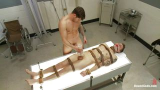 Tied And Ball Gagged Gay Being Used By A Horny Male