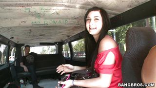 Brunette Chick Getting In The Bang Bus PornZek.Com