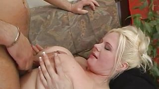 Busty Blonde Chubby Lady Gets Tit Fucked