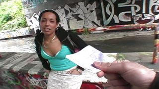 Public Invasion-Ebony Girl Sucks The Dick For Money PornZek.Com