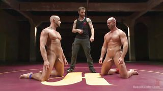Hunks Roll Around In The Ring