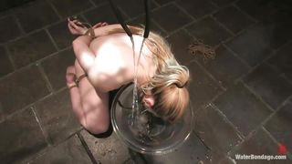 A Bowl With Water For A Mouth Opened Blonde Milf
