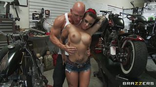 Sexy Tattooed Babe Fucked In A Bike Garage PornZek.Com