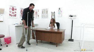 Blonde Doctor Amy Fixes The Problem