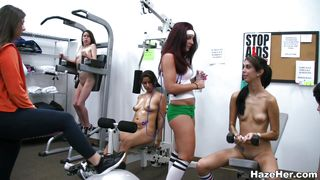 Hot Sluts In The Gym Work Out Their Way