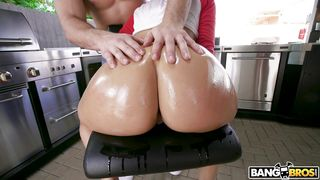 Busty Brunette With A Round Bubble Butt Gets Fucked From Behind
