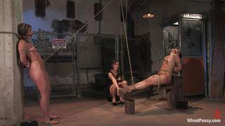 Lady Punishing Two Naughty Whores