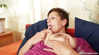 Mom Loves Mom-Sexy Mature Lady Playing With Her Pussy. PornZek.Com