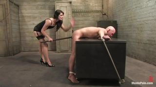 Pretty Chick With Small Tits Dominating Her Bald Man