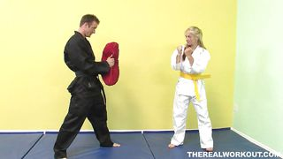 Karate Involves Discipline But Not With Her