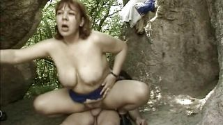 Mature Woman Has A Great Fuck In The Woods