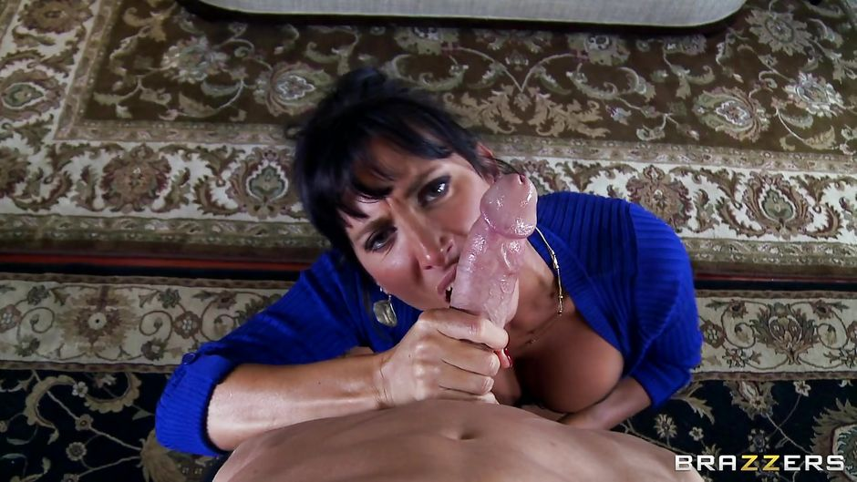 Big tit step milf sucks amp jerks son039s big dick b4 daddy sees 6
