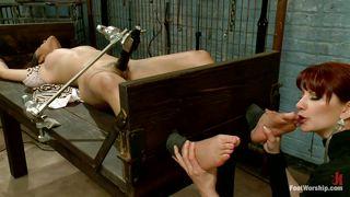 Redhead Mistress Really Likes Her Feet