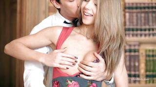 Beautiful Innocent Girl Fingered In A Library