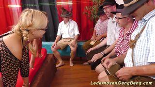 Lederhosen Gangbang-Lederhosen Swinger Party Orgy PornZek.Com