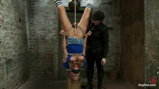 Kink-Upside Down Blonde And Her Tied Pussy PornZek.Com
