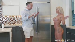 Busty Blonde Wife Sucks A Big Dong