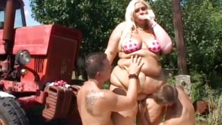 Bbw Forever-Fat Blonde Farmgirl Has Threesome PornZek.Com