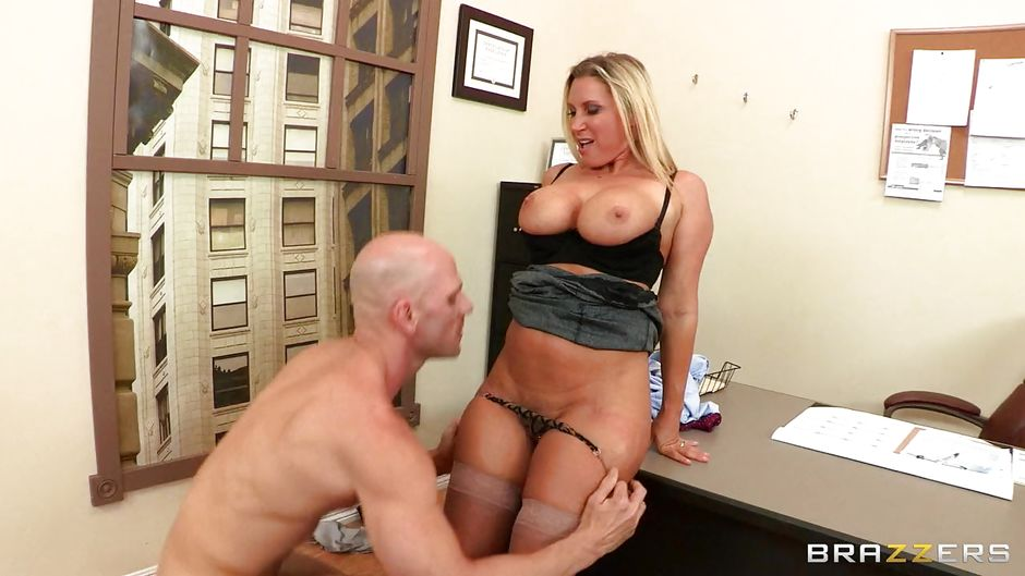 "Devon Lee, Johnny Sins in ""Hot Blonde Milf With Her Huge Big Titties"", HD / From: Brazzers / Big Tits At Work"