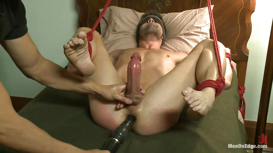 image Tied handjob and long post orgasm torture