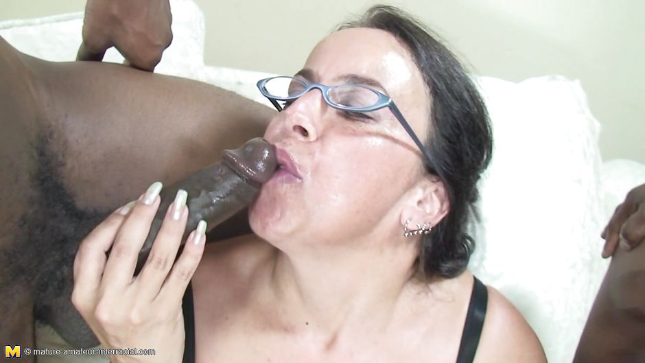 Mature black interracial