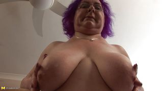 Mature Nl-Busty Granny Nataline Playing With Her Body PornZek.Com