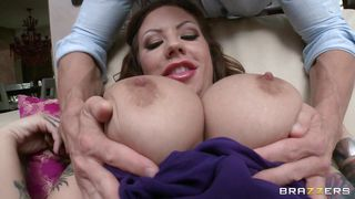 Redhead Bitch With Perfect Tits Being Stimulated By Sexy Guy PornZek.Com