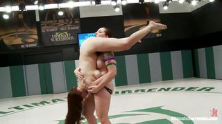 Lesbian Domination In The Wrestling Arena