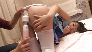 Naughty Japanese Babe Uses A Toy To Satisfy Her Pussy