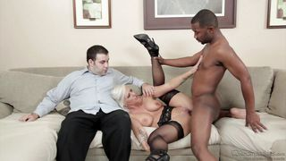 White Wife Fucked By Black Stud In Front Of Her Husband  Mom's Cuckold