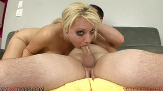 Myxxxpass-Sexy Blonde Babe Is Giving A Hell Of A Blowjob. PornZek.Com