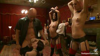 Three Guys Come And Punish Hot Milfs